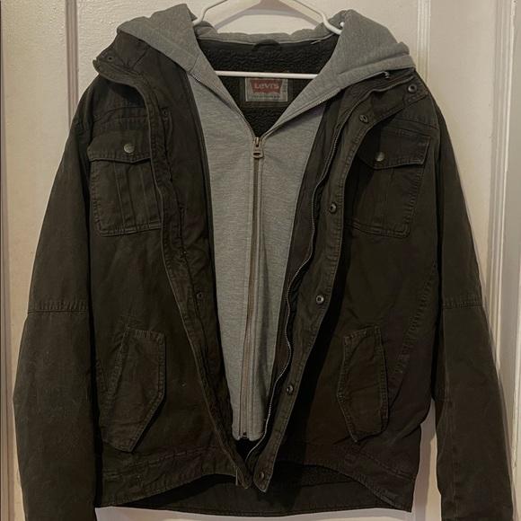 Levi's Sherpa Lined 2 Pocket Hooded Trucker Jacket